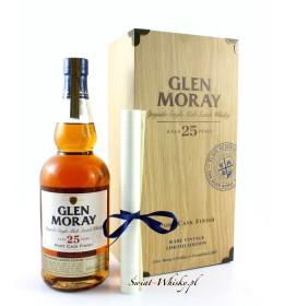 Glen Moray 25 Years Old Port Cask Finish Rare Vintage Limited Edition skrzynka  43% 0,7 l