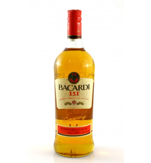 Bacardi 151° Proof 75,5% 1 l