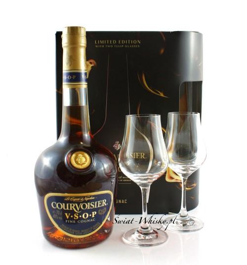 Courvoisier VSOP 40% 0,7 l + 2 szklanki