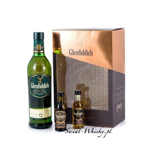 Glenfiddich 12YO 40% 0,7 l  + 2 miniaturki