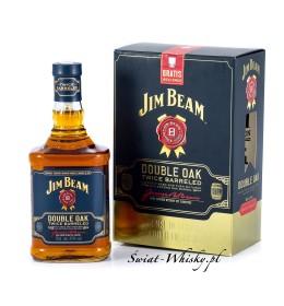 Jim Beam Double Oak Twice Barreled + kieliszek  43% 0,7 l