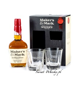 Maker's Mark 45% 0,7 l +  2 szklanki