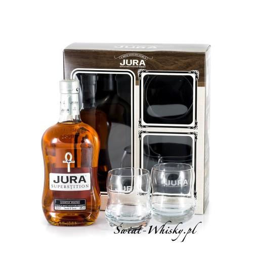 Isle of Jura Superstition + szklanki 43% 0,7 l