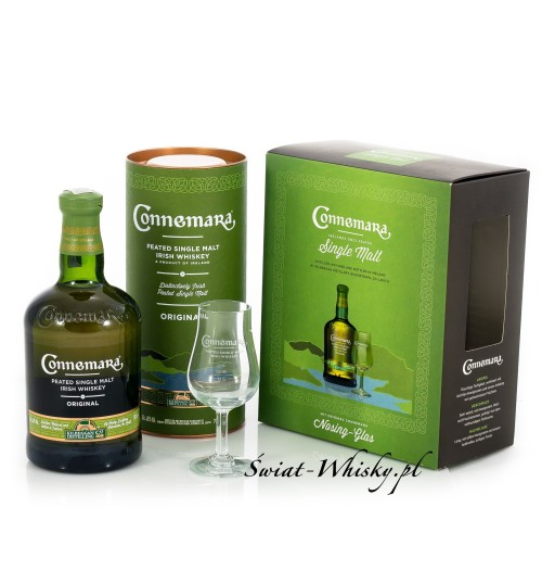 Connemara Irish Peated Malt 40% 0,7 l + kieliszek