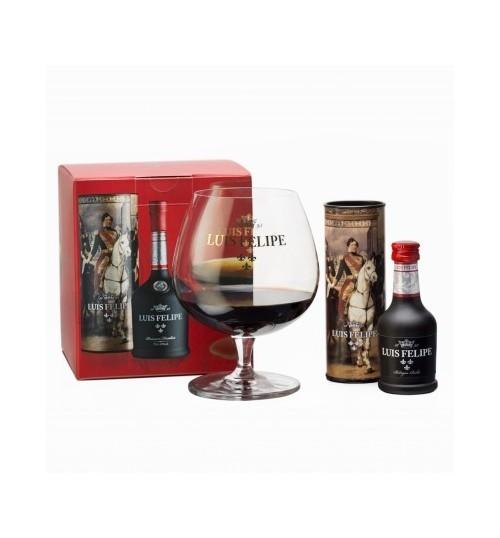 Luis Felipe Brandy mini 40% 0.04l + szklanka