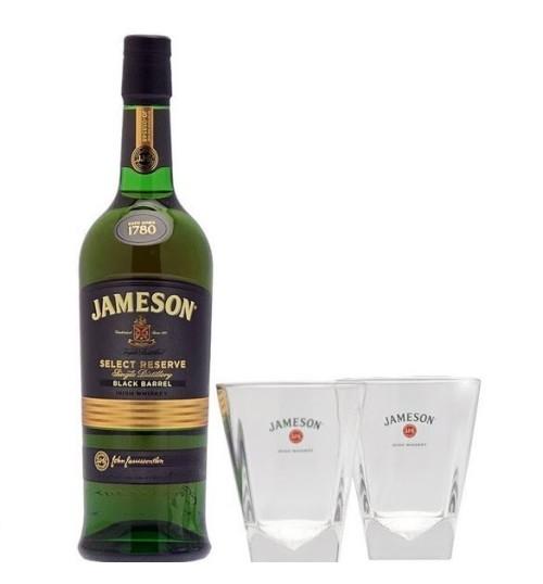Jameson Black Barrel Select Reserve 40% 0,7 l zestaw ze szklankami