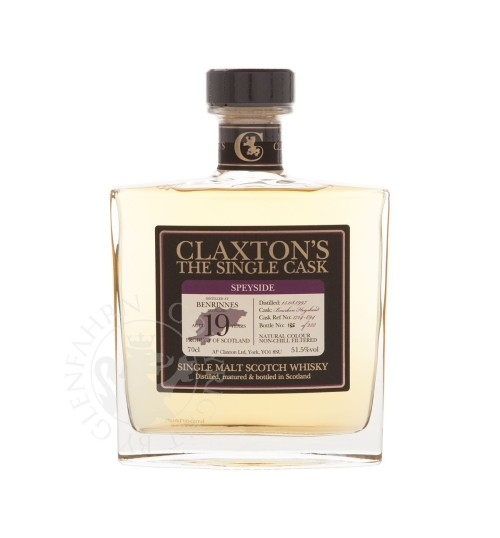 Claxton's The Single Cask BENRINNES 19YO Old 51,5% 0,7 l