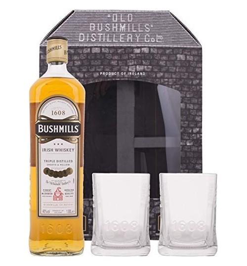 Bushmills Original 40% 1 l + 2 szklanki