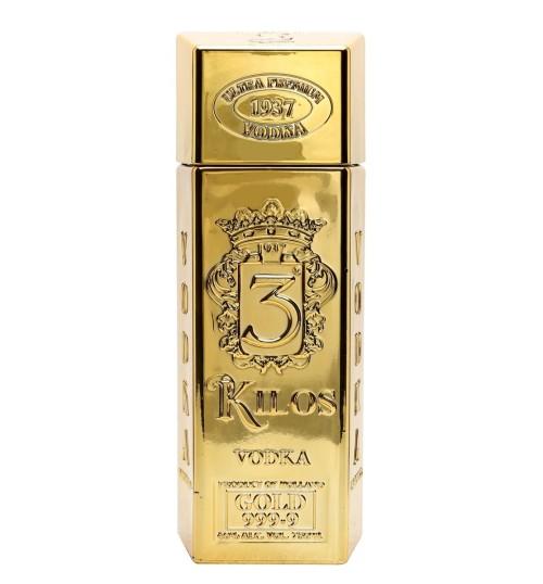3 Kilos Vodka Gold 999.9 40% 1 l