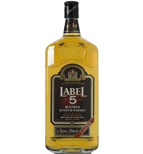 Label 5 Classic Black Blended Scotch Whisky 40% 0,7 l