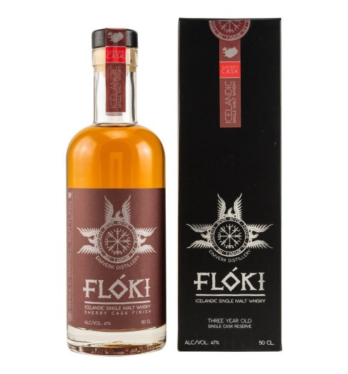 Flóki Icelandic OLOROSO SHERRY Cask Finish Single Malt Whisky 47% 0,5 l