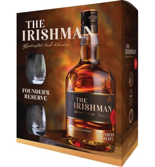 Irishman Founder's Reserve Small Batch 40% 0,7 l zestaw ze szklankami