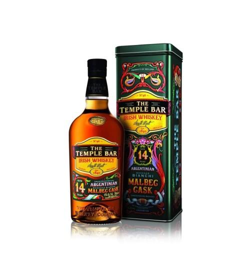 The Temple Bar 14YO Single Malt Irish Whiskey Malbec Cask 43% 0,7l