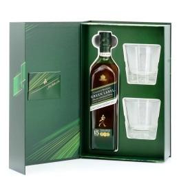 Johnnie Walker Green Label 15YO 43% 0,7 l zestaw ze szklankami