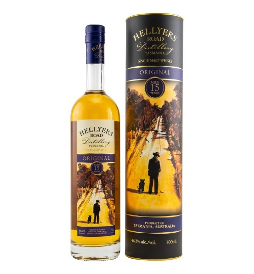 Hellyers Road Original 15YO Single Malt whisky 46,2% 0,7 l