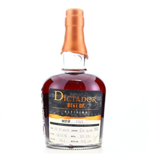 Dictador BEST OF 1981 ALTISIMO Colombian Rum 36YO 46% 0,7l